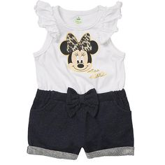 "Disney Girls' White/Navy Minnie Mouse Flutter Sleeve Sunsuit - Babies R Us - Babies ""R"" Us"