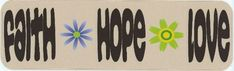 10in x 3in Faith Hope Love Vinyl Bumper Sticker Car Decal Window Stickers Decals