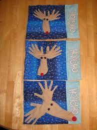 Reindeer foot and handprints