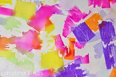 Nuestro Mundo Creativo: Arte con papel seda