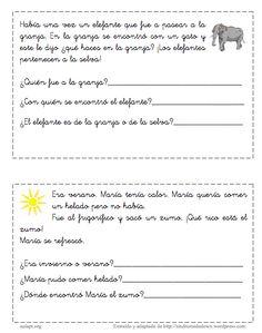 Aula pt: Cuentos Cortos Para Trabajar La ComprensióN Lectora 1º E.P.