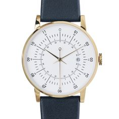 The Plano is a watch with bells and whistles that makes telling time a fun and easy experience.   It features classic watch aesthetics which is evident in its traditional-looking face and navy/gold colour combination.