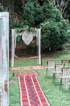 Dominique + Gassan's Garden Belongil Bistro, Byron Bay Wedding.  Macrame Wedding Arbour Photography: Lost in Wishful Thinking Styling + Hire: Hummingbird Style & Hire