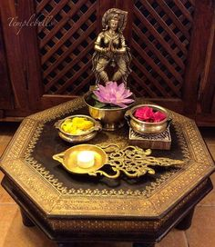 With Diwali round the corner , my home is slowly getting spruced up ! This jodhpur bajot graces my living room only on occasions . Cleaning the brass inlay is tough as I am afraid that the tamarind may bleach the wood ! So after the scrub it still has that aged look & I am not complaining. .:)... Tried this vignette & perhaps will try another one with tall lamps for the festival , what say ?? #diwali #festival #indianfestival #festivaloflights #indiandecorideas #decor #indian #livingroom…
