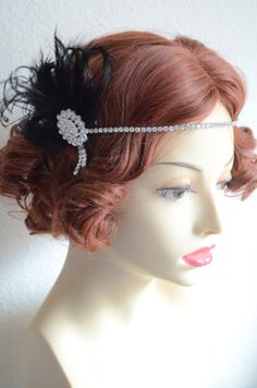 READY TO SHIPBlack Headpiece1920s Flapper by yanethandco on Etsy, $64.50