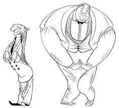 Tanglefoot character designs 2014 by A. Wilkenfeld, via Behance