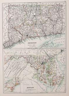 24x36 Vintage Reproduction Map Ocean City New Jersey Cape May County 1903