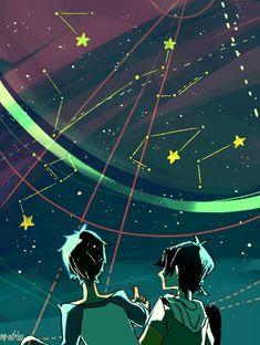 VLD fanart - Lance & Keith The Stars in your Eyes, your name on the Constellations