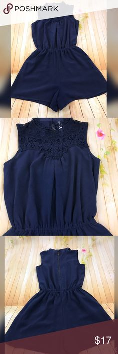 BOGO free 🔴 NWOT navy blue high neck romper with zip in the back      FYI 📌📌📌📌📌 Things to keep in mind when shopping my closet  ✔️  all item come from a smoke free pet free clean home ✔️ all items shipped same day or next day unless its Friday orders will go out Monday  ✔️ open to offers I do not use the private offer system  ✔️ discounts on bundles  ✔️posh ambassador Xhilaration Dresses
