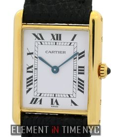 Cartier Tank Louis 23mm iN 18k Yellow Gold With A Silver Roman Dial Circa 1980's (W1529856)