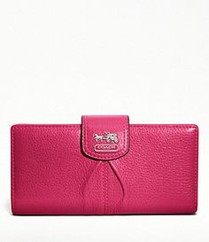 Coach Madison Leather Skinny Wallet - Fuschia