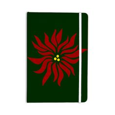 """NL Designs """"Pointsettia"""" Green Maroon Everything Notebook from KESS InHouse"""