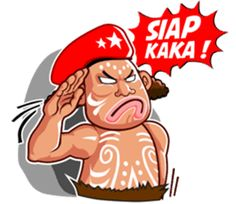 Pace and Mace Papua by Arif Hakim-Arnes-Indra (Branch Jayapura) sticker Funny Text Memes, Funny Qoutes, Funny Texts, Stickers Online, Funny Stickers, Haha Gif, Cartoon Jokes, Joko, Line Sticker