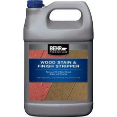 BEHR Premium Wood Stain and Finish Stripper is specifically formulated to remove existing oil and latex coatings. Removing Stain From Wood, Deck Stain And Sealer, Wood Deck Stain, Best Deck Stain, Best Wood Stain, Exterior Wood Stain, Deck Stain Reviews, Stripping Paint, Stripping Stained Wood