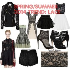 """""""Spring/Summer 2014 Trend: Lace"""" by sdixon2523 on Polyvore"""