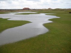 Sometimes it rains in Ireland like this The Royal Portrush Dunluce 16th fairway