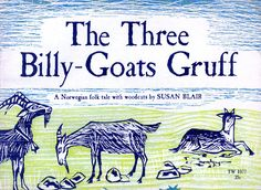 The Three Billy Goats Gruff 1967 Susan Blair Woodcut Illustrations Scholastic Old Children's Books, Vintage Children's Books, My Books, Billy Goats Gruff, Children's Picture Books, Children's Literature, I Love Books, Childrens Books, Fairy Tales