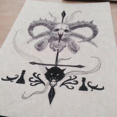Darren Shan tattoo print concept