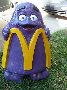 Vintage McDonald's Grimace Playground Seat | eBay
