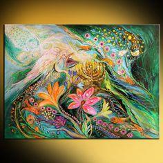 Jüdische Kunst original Gemälde mit Symbolen der von LenaKotliarker