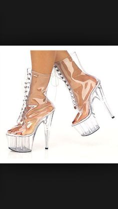 Omg I want to try these on:) Louboutin Pumps, Christian Louboutin, Clear Shoes, Girl Stuff, Valentino, Heels, Fashion, Heel, Moda