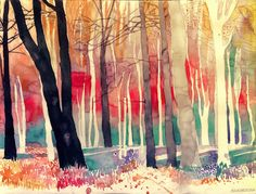Colorful New Architectural Watercolors by Maja Wronska - Cretíque