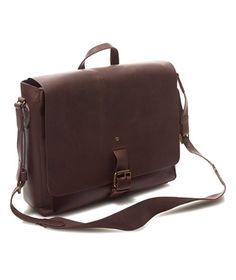 Signature Leather Messenger Bag