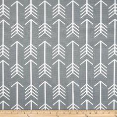 Premier Prints Arrow Cool Grey Fabric