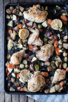 lemony garlic roasted chicken with autumn vegetables   superman cooks