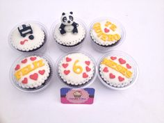 Panda cupcake, panda fondant, pandita Love