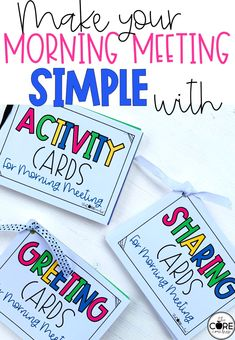 Print these cards for an easy way to plan a morning meeting.