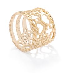 2 string rings in 9k gold and 2 openwork rings in 14k gold : a great match! Price : 520£/854$  Create your own here : http://lilouparis.com/en/configurator/rings