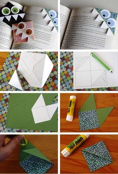 закладки из бумаги дракон