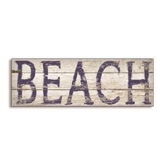Artist Stephanie Workman Marrot has outdone herself again with this beach inspired wall plaque. The plaque featuring the word 'BEACH' looks like it was painted on distressed driftwood.