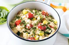 A slight citrus tang balances out this creamy vegie-packed risotto.