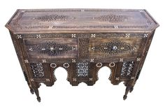 Carved Wood Bone Inlay Cabinet - CW-CA020,  (http://www.badiadesign.com/moroccan-carved-wood-bone-inlay-cabinet-cw-ca020/)
