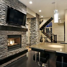 Interior Rock Design Ideas, Pictures, Remodel and Decor