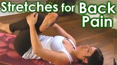 How To Yoga Stretches for Low Back Pain & Sciatica Relief by Jen Hilman.
