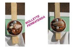 Riciclo di capsule di caffè - mollette fermatenda con capsule e conchiglie