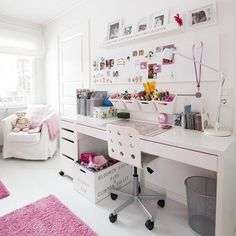 Girls bedroom/craft/home work space