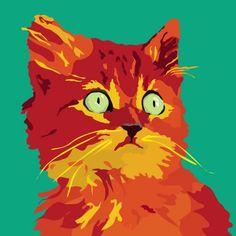 Ginger Kitten print 9 x by animalsincolor on Etsy Ginger Kitten, Beauty In Art, Orange Cats, Doodle Drawings, Illustration Art, Cat Illustrations, Cool Cats, Cat Art, Pet Portraits