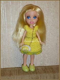 Limon dress for my Polly pocket #pollypocket #crochet #littledoll #minidoll #fordoll #вязание #крючок #поллипокет #длякукол