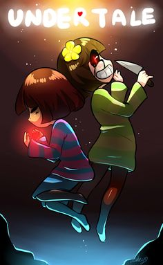 Frisk and chara-undertale