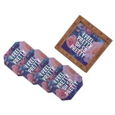 Leah Flores So Pretty Coaster Set | DENY Designs Home Accessories #denyholiday #madeinamerica #shopsmall #gift #entertain #hostess