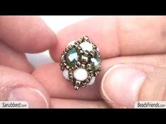 Tutorial perline - Tutorial componente con perline rocailles e cipollotti - Tutorial gioielli - YouTube