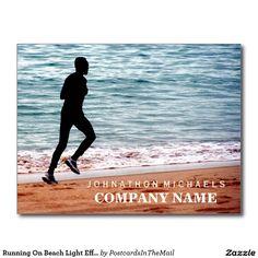 Running On Beach Light Effect Postcard