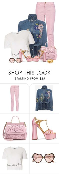 """""""Jacket Required"""" by ladychatterley ❤ liked on Polyvore featuring Current/Elliott, Alexander McQueen, Dolce&Gabbana, Miu Miu, Dorothy Perkins, Cutler and Gross, Kenneth Jay Lane, AlexanderMcQueen, dolceandgabbana and denimjacket"""