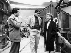 John Huston, Humphrey Bogart & Lauren Bacall on the set of Key Largo, 1948 #Steppers