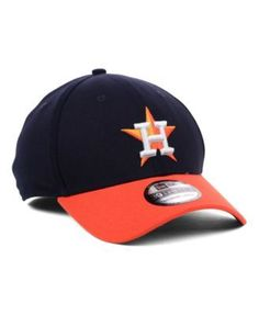 buy online 45453 5e9d1 New Era Houston Astros Mlb Team Classic 39THIRTY Stretch-Fitted Cap -  Navy Orange M L
