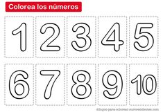 Free coloring pages of nà ºmero 0 Numbers Preschool, Math Numbers, Letters And Numbers, Doodle Lettering, Kindergarten Lessons, Toddler Learning, Free Coloring Pages, Craft Activities, Early Childhood